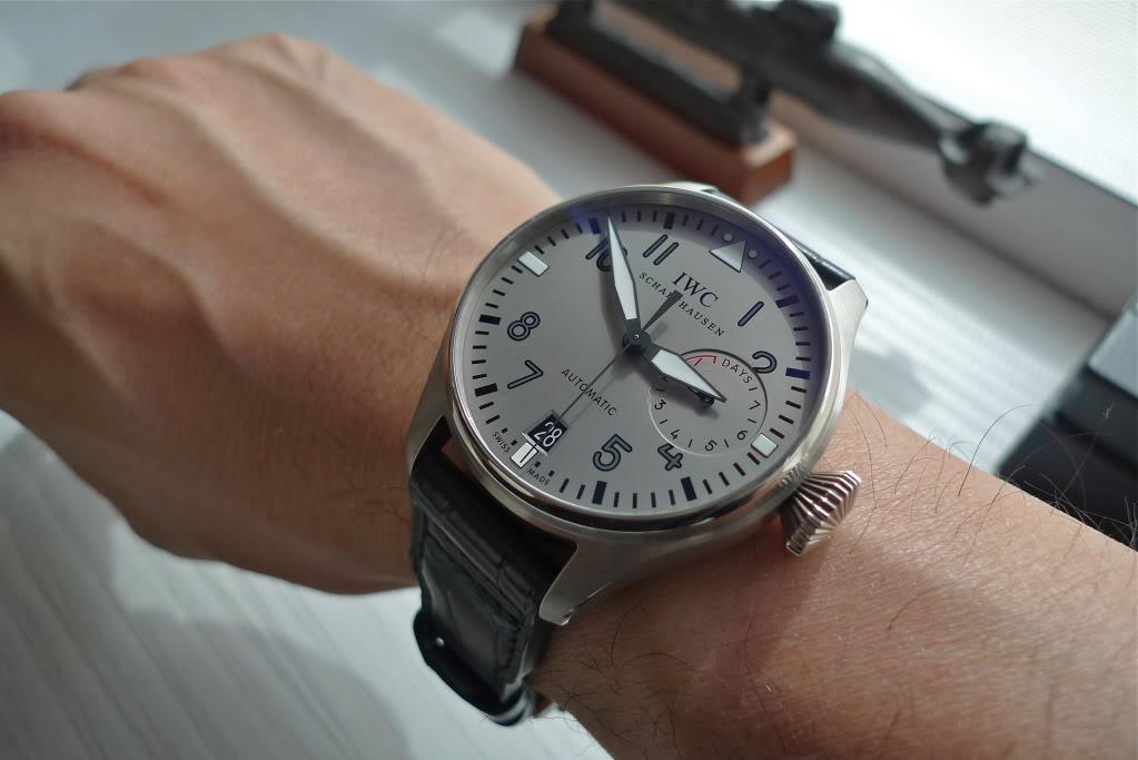White Gold Wrist Iwc Big Pilot Watch