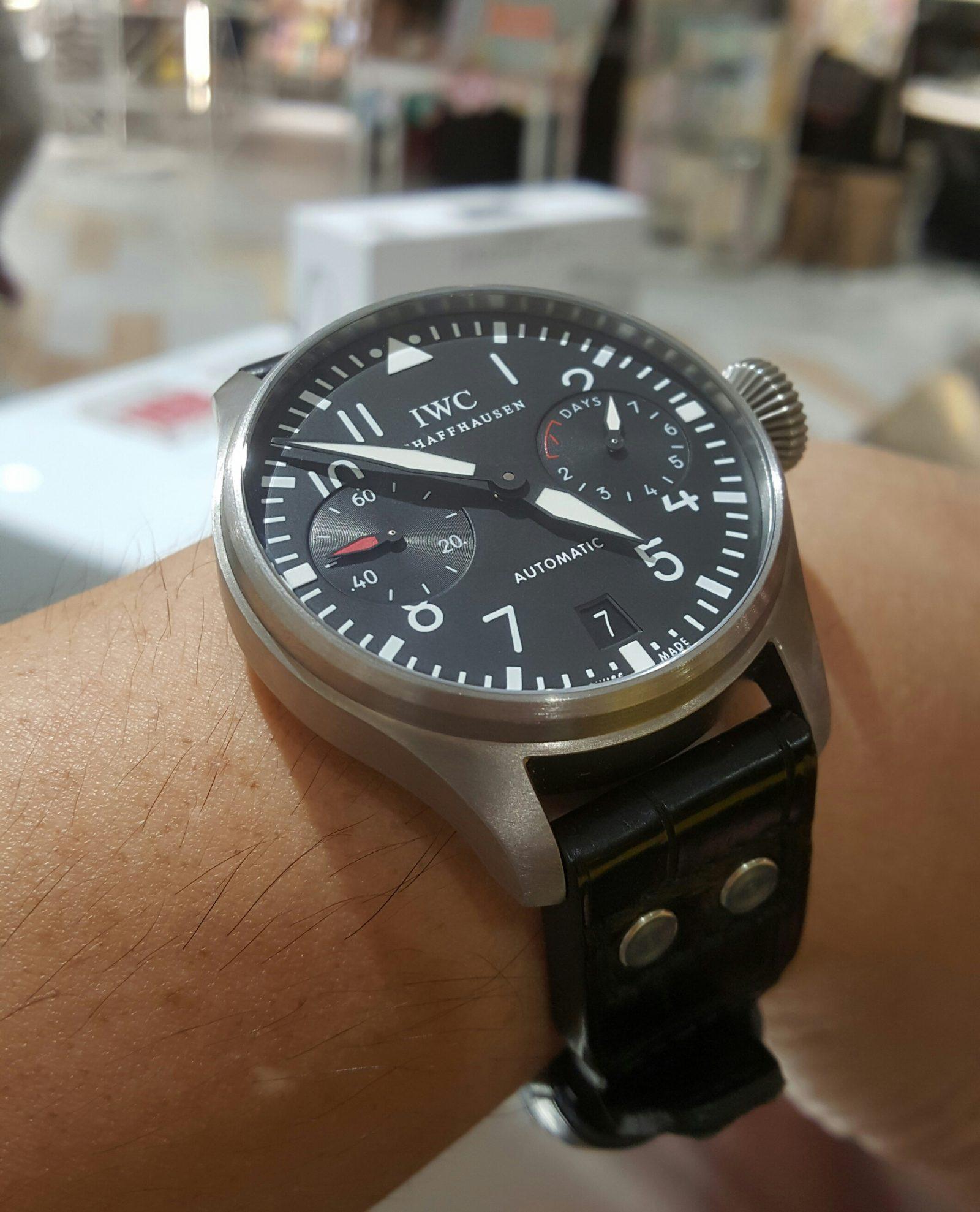 Big Titanium On The Wrist Iwc Big Pilot Watch